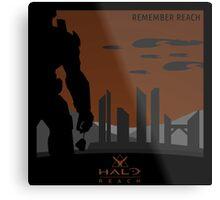 Minimalist Halo Reach Poster Metal Print