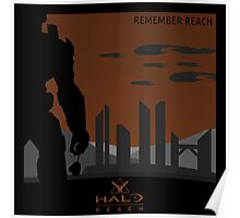 Minimalist Halo Reach Poster Poster