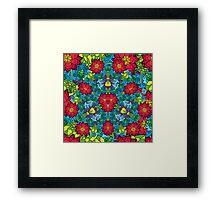 Psychedelic LSD Trip Ornament 0012 Framed Print