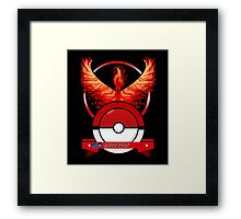 Red Team Pokemon GO Framed Print
