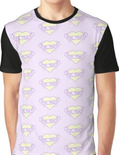 GIRL POWER - pastel yellow x lilac - Graphic T-Shirt