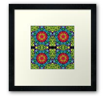 Psychedelic LSD Trip Ornament 0013 Framed Print