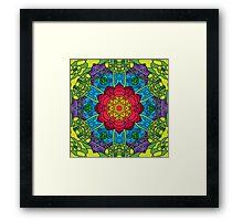 Psychedelic LSD Trip Ornament 0014 Framed Print