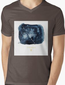 Taurus Zodiac Constellation Mens V-Neck T-Shirt
