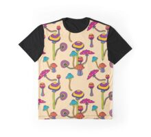 Psychedelic Magic Mushroom Ornament 0001 Graphic T-Shirt