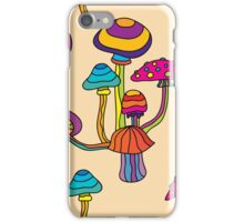 Psychedelic Magic Mushroom Ornament 0001 iPhone Case/Skin