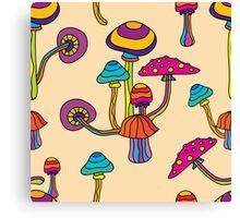 Psychedelic Magic Mushroom Ornament 0001 Canvas Print