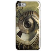 Spiral staircase in pastels iPhone Case/Skin