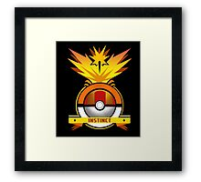 Yelow Team Pokemon GO Framed Print