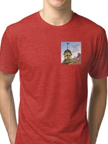 Delaware's Old State House Steeple Greetings Tri-blend T-Shirt