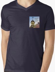 Delaware's Old State House Steeple Greetings Mens V-Neck T-Shirt