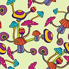 Psychedelic Magic Mushroom Ornament 0002 by Andrei Verner