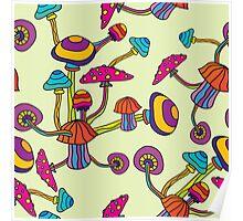Psychedelic Magic Mushroom Ornament 0002 Poster