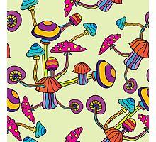 Psychedelic Magic Mushroom Ornament 0002 Photographic Print