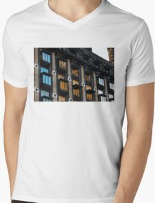 The Old and the New - London's Big Ben Reflected in a Modern Building Mens V-Neck T-Shirt
