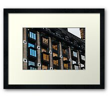 The Old and the New - London's Big Ben Reflected in a Modern Building Framed Print