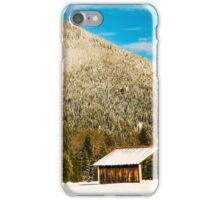 First snow at the mountain iPhone Case/Skin