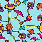 Psychedelic Magic Mushroom Ornament 0003 by Andrei Verner