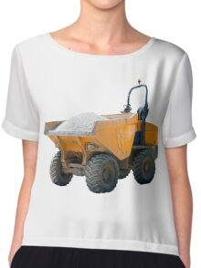 Dumper Truck Scratched and Dented Chiffon Top