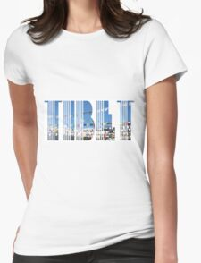 Tibet Prayer Flags in Wind Womens Fitted T-Shirt