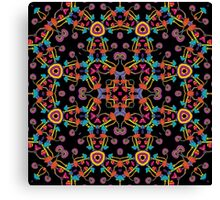 Psychedelic Magic Mushroom Ornament 0005 Canvas Print