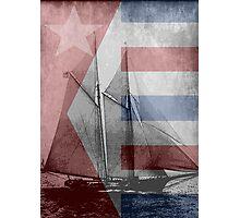 patriotic sail Photographic Print