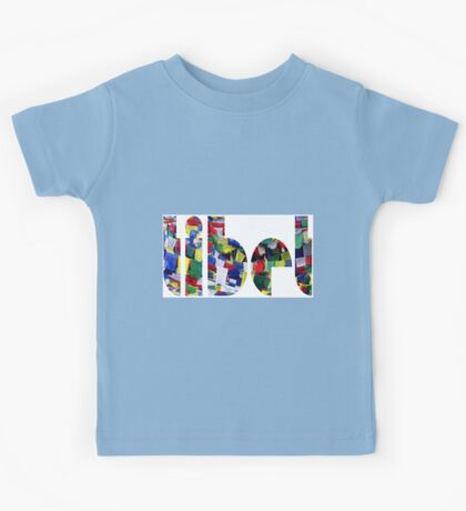 Tibet Prayer Flags Kids Tee