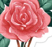 Triangle Rose Sticker