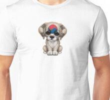 Cute Patriotic South Korean Flag Puppy Dog Unisex T-Shirt