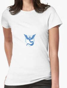 Pokemon Go Team Mystic Logo Womens Fitted T-Shirt
