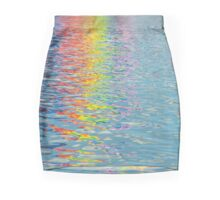 Rainbow colours reflected in the canals, Horizontal Mini Skirt