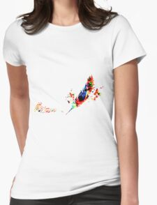 Feather Music Womens Fitted T-Shirt