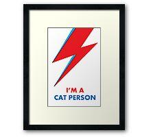 """Original David Bowie """"Cat People"""" design Framed Print"""
