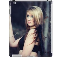 Portrait of blond young woman posing outdoors iPad Case/Skin