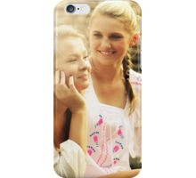 pretty blonde sisters   iPhone Case/Skin