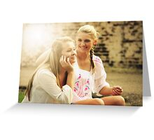pretty blonde sisters   Greeting Card