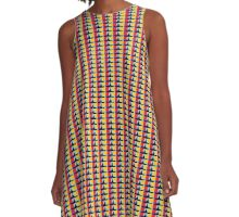 Abstract Boat A-Line Dress