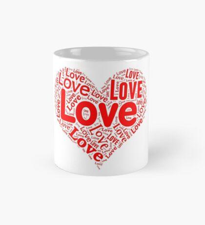 Love - Red Heart Mug