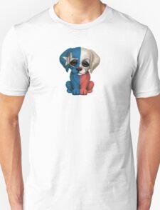 Cute Patriotic Texas Flag Puppy Dog Unisex T-Shirt