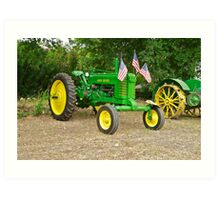 Vintage John Deere Farm Tractor 1 Art Print