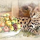 Still life with serval by Christina Brundage