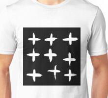 Crosses black and white Unisex T-Shirt