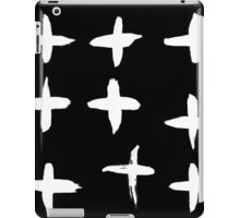 Crosses black and white iPad Case/Skin