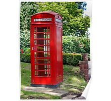 Call Home : - Red Telephone Box Poster