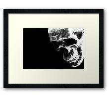 Glow Skull Framed Print