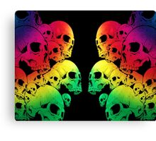 Colour Skull Canvas Print