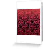 Red Squid Greeting Card