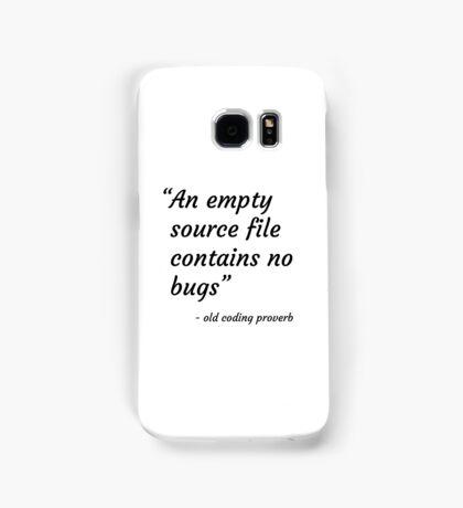 Old Coding Proverb Samsung Galaxy Case/Skin