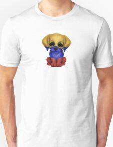 Cute Patriotic Venezuelan Flag Puppy Dog Unisex T-Shirt