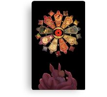 NARUTO AND THE THE TAILED BEASTS Canvas Print
